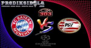 Prediksi Skor Bayern Munchen Vs PSV 20 Oktober 2016