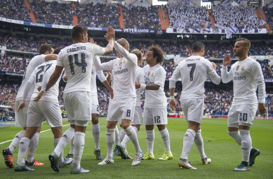 Real Madrid team football 2016