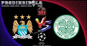 Prediksi Skor Manchester City Vs Celtic 7 Desember 2016